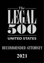 2017-2021: Legal 500 Recommended Attorney – Telecoms and Broadcast: Regulatory